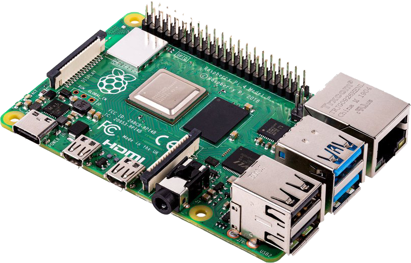 Raspberry Pi 4, with 2xHDMI, Gigabit Ethernet and 2xUSB3.0