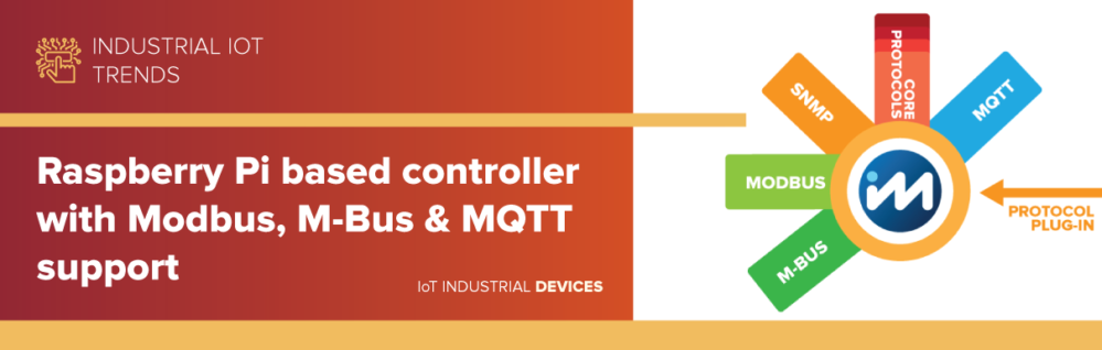 Raspberry Pi based controller with Modbus, M-Bus & MQTT support