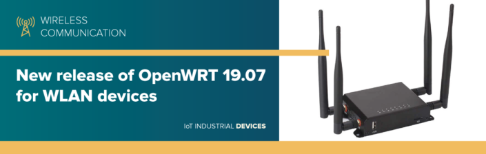 New release of OpenWRT 19.07 for WLAN devices