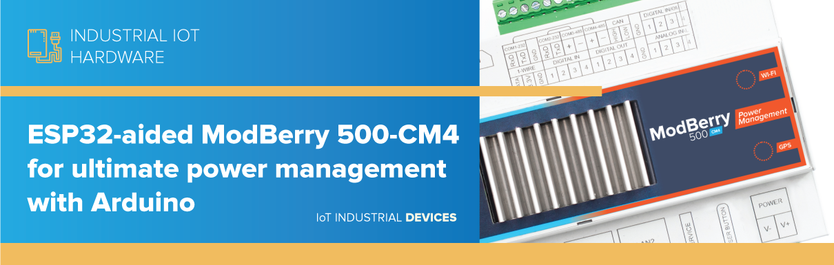 TECHBASE company designed an extended version of Raspberry Pi Compute Module 4 based devices, ModBerry 500-CM4-PM series for better power management i
